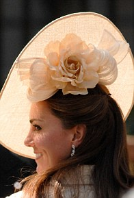 Hat by Gina Foster (£410), wedding of Zara Phillips and Mike Tindall, August