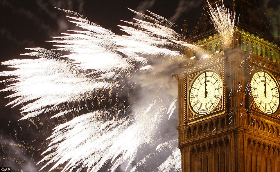 LONDON: Fireworks explode over the Houses of Parliament