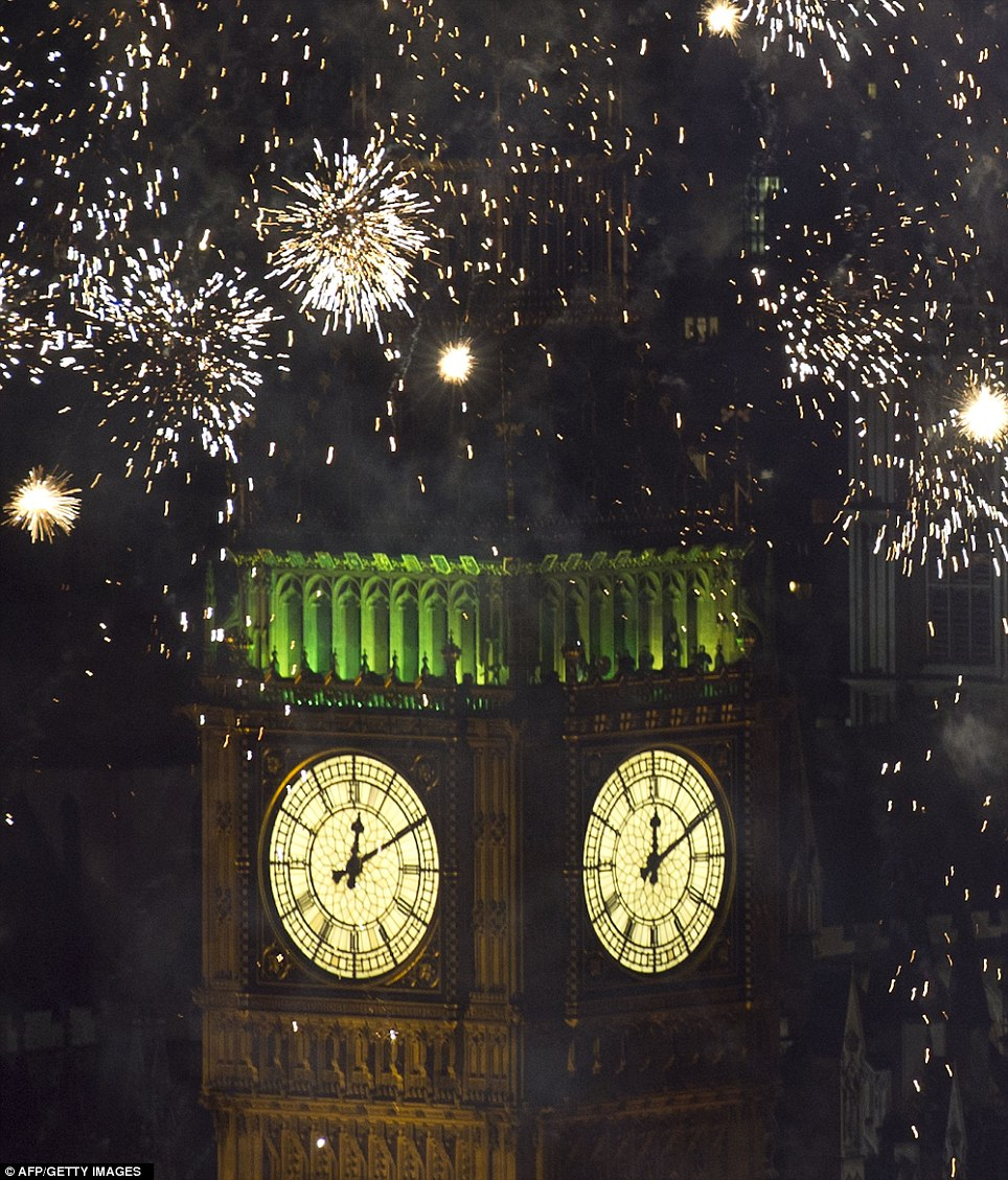LONDON: The display was the result of 12 months of planning with a  crew of 306 working on the site since Boxing Day