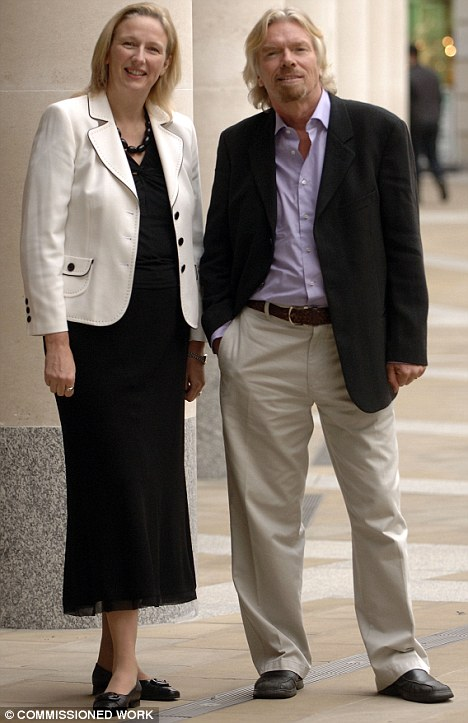 Bank boss Jayne-Anne Gadhia, with Virgin founder Sir Richard Branson, says the fees will be 'transparent'