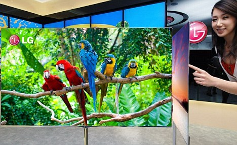 Organic LED - OLED - is used widely in smartphones such as Samsung's Galaxy S2, but up until now, manufacturing large screens using the technology has been too expensive for any technology company
