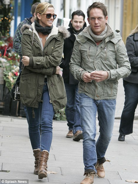 Drama: Sarah Harding was rushed to hospital following a fight with boyfriend Theo during a skiing holiday in Austria