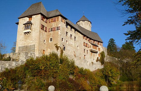 'Terrible fight': The row broke out at the Hotel Schloss Matzen near Innsbruck in Austria where the pair had been staying