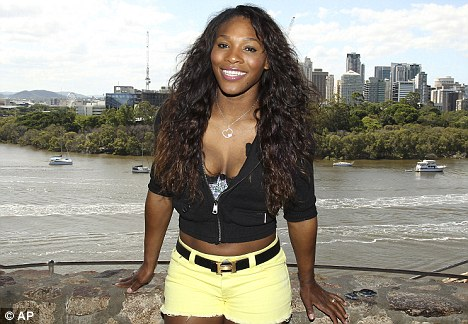 Shock revelation: In an extraordinary outburst, Serena Williams, 30, pictured yesterday, said she¿d much rather be shopping