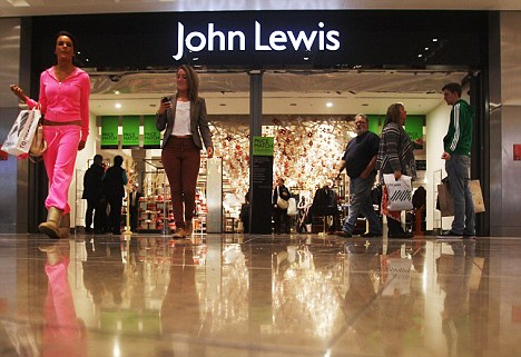Strong sales of clothes and electrical items helped department store John Lewis take more than £500million