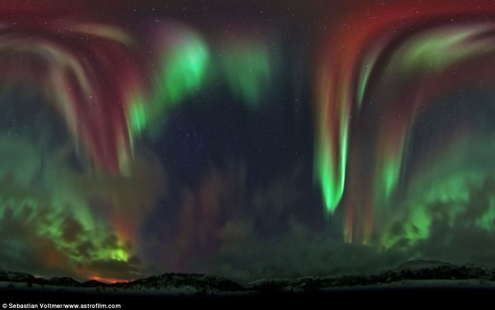 Stunning: This incredible photograph was taken over eastern Norway