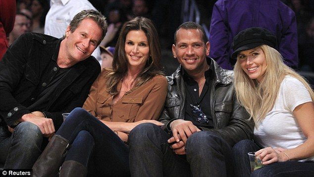 Double date: The couple joined Rande Gerber and Cindy Crawford at the game
