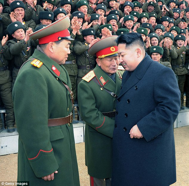 Follow the leaderKim meets some his military on New Year's Day in North Korea