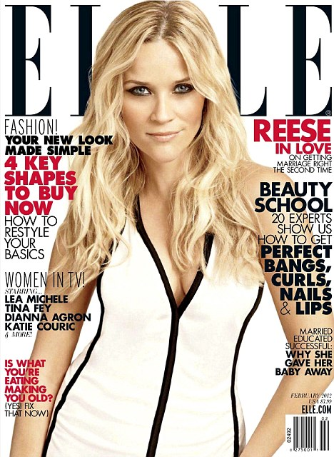 Cover girl: Reese Witherspoon appears on the new issue of America's Elle magazine