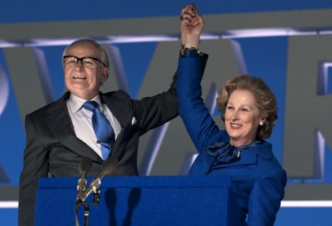 Meryl Streep as Margaret Thatcher and Jim Broadbent as Denis Thatcher  in 'The Iron Lady' Released January 6 2012