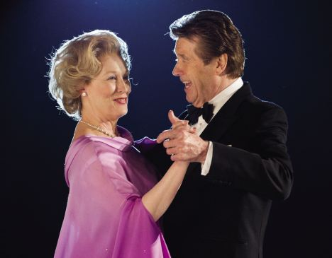 In step: Meryl Streep as Thatcher dancing with Ronald Reagan, played by Reginald Green, at Reagan's inaugural ball in 1985