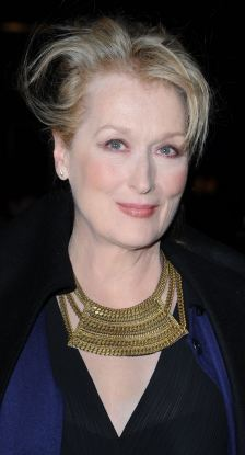 Meryl Streep, left, as her glamorous self at the premiere