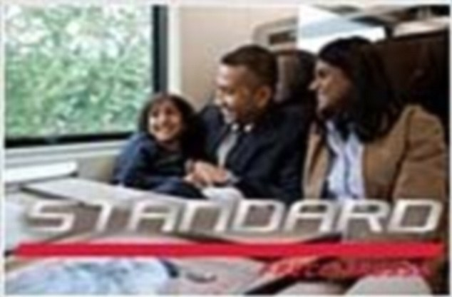 Anger: Trenitalia has been accused of racism for using a picture of an Asian family to promote the cheapest seats on its high-speed service