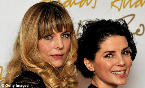 Sharing types: Jemima French (left) and her panty partner in crime Sadie Frost