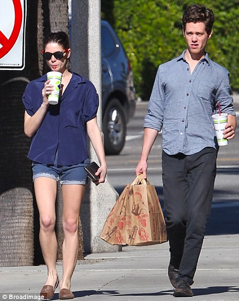 Shop 'til they dropped: The Twilight star went shopping with a male pal today