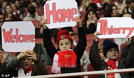 Legend: Henry can expect a hero's welcome when he runs out at the Emirates