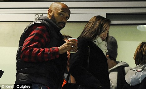 Watching on: Henry was in the crowd for the win over QPR