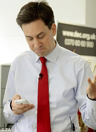Whoops! Ed Miliband's tweet has been trending on Twitter this afternoon