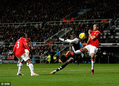 Inspirational: Ba scored as Newcastle beat Manchester United this week