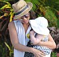 Not today thanks! Myleene Klass was content to stick to dry land with her nine-month-old daughter Hero on holiday in Barbados