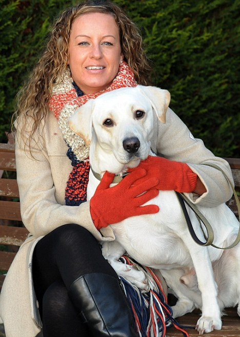 Pain relief: Zoe Fox was glad she didn't have to pay for expensive surgery that Marley needed after eating a conker