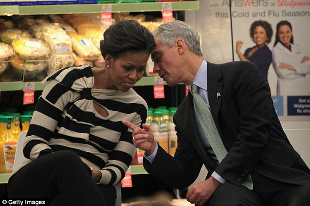 Clash of the titans: In a new book, a New York Times reporter revels that Michelle Obama and former chief of staff Rahm Emanuel butted heads