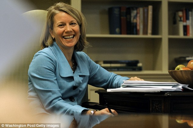 Not welcomed: Michelle Obama's chief of staff Jackie Norris (pictured) was rebuffed from a morning meeting by Rahm Emanuel, the books says