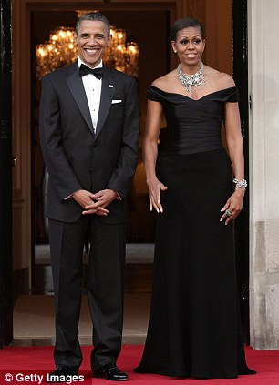 Unsure: The first lady was at first unsure of her role, despite her glamorous reception