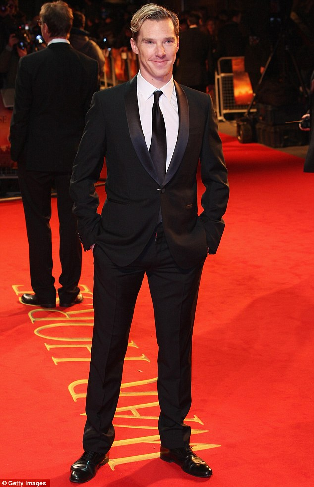 From Sherlock to stirrups: Benedict Cumberbatch, who plays Major Stewart, was also at the screening
