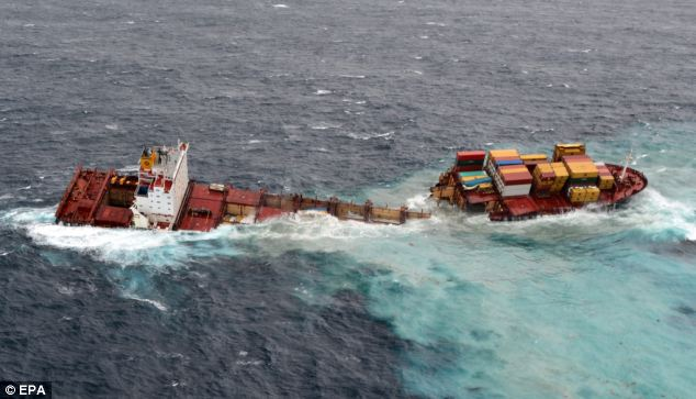 Environment Minister Nick Smith said there is roughly 385 tons of oil still aboard the ship