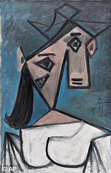 Stolen: Picasso's Woman's Head painting was taken in a dawn raid