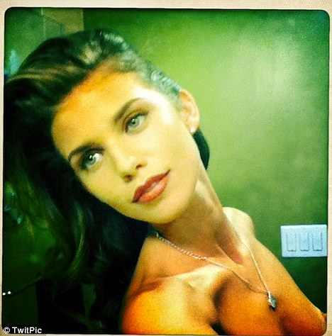 Overexposed: AnnaLynne McCord accidentally tweeted this topless picture on Twitter earlier this week
