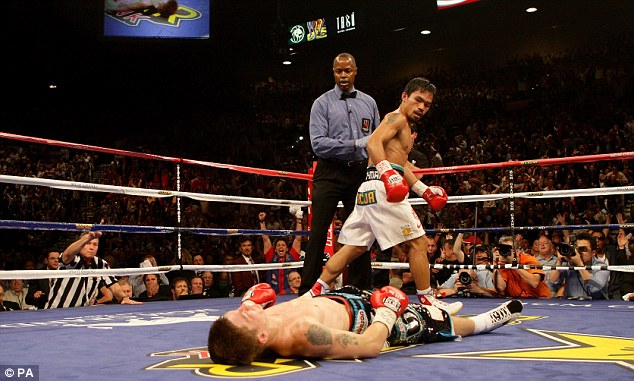Down and out: Defeat to Pacquiao in 2009 crushed Hatton