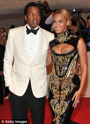 Happy couple: Beyonce and Jay-Z at the Costume Institute Gala in New York last May