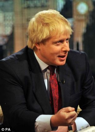 Steely: Ambitious Boris Johnson has realised that it may not be best to align himself too closely with the Prime Minister