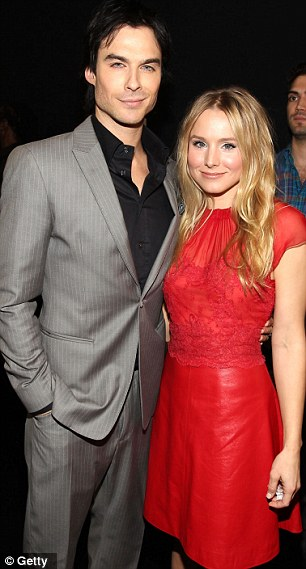 They're vamps: Ian Somerhalder and Kristen Bell looked wonderful while Nick Simmons also attended