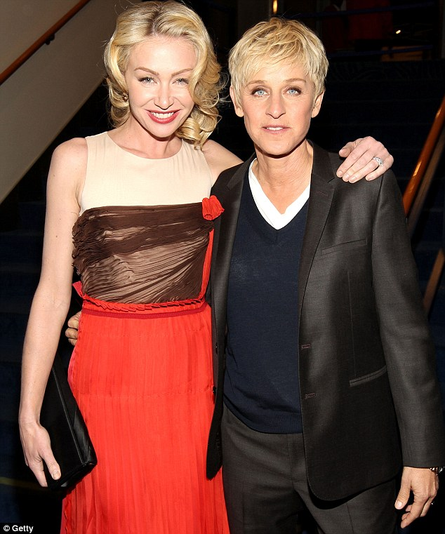 Wedded bliss: Ellen DeGeneres still looks as happy as ever to be with her wife Portia de Rossi
