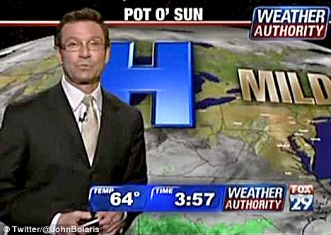 Storm coming: John Bolaris, who's been handling weather forecasts at Philadelphia Fox affiliate WTXF for four years, was fired this week after a series of mishaps