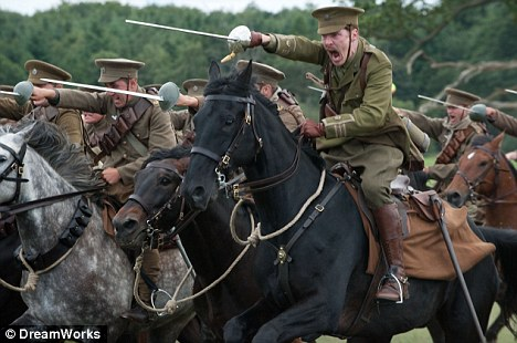 Charge! Cumberbatch plays Major Stewart in Spielberg's big screen adaptation of War Horse