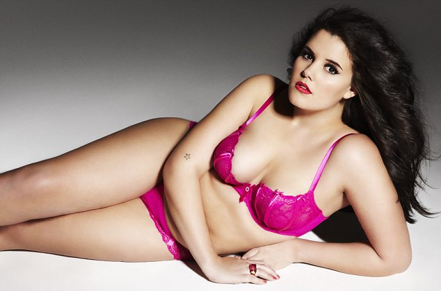 The new face of Ann Summers: Lucy Moore beat 4,000 other models to be chosen to front the lingerie chain's Valentine's Day campaign
