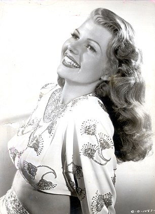 A natural beauty? Not so much - Rita Hayworth's hair was originally black, and her hairline was a full inch lower
