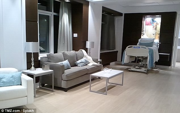 Million Dollar Baby: The newly constructed VIP suite at Lenox Hill Hospital in New York where Beyonce and Jay Z's baby Blue Ivy Carter was born on Saturday night