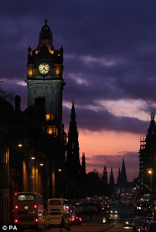 Picture this: The sunsets over the skyline in Edinburgh - but the sun could be about to take a back seat very soon