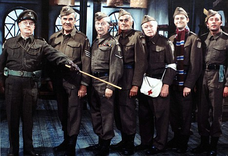 A court heard Mr Butler blared out the themes to Dambusters, Dad¿s Army (pictured) and Rule Britannia