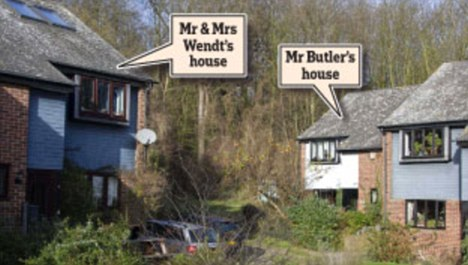 Reinhard Wendt and his wife Kathryn live on the left opposite Mr Butler. The couple moved to the village of Lower Upnor in Kent in 2007
