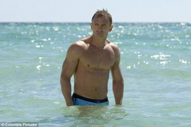 Double oooh seven: Daniel cast off the 'James Bland' tag when pictures were leaked of him in his swimming gear for Casino Royale