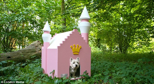 Living it up: The pink castle is one of the kennels offered by Best Friend's Home