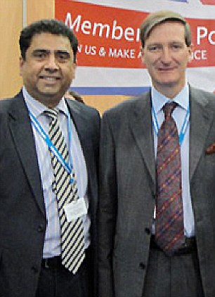 Close ties: With Attorney General Dominic Grieve, who is his local MP
