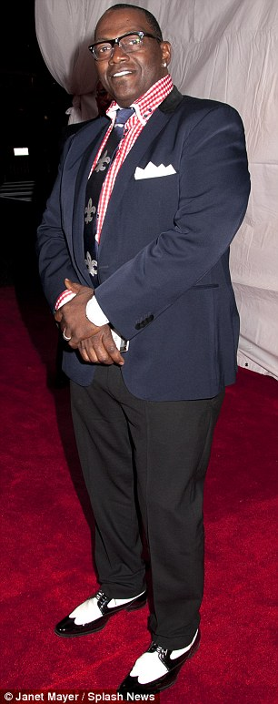 Suited and booted: Stevie Wonder and American Idol judge Randy Jackson