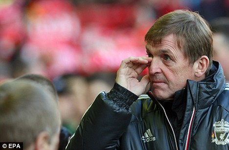 Another draw: Kenny Dalglish saw his side share the points for the seventh time this season